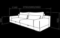 Прямой диван БЕТТИ