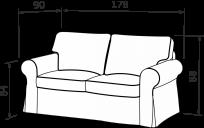 Прямой диван КАНТРИ