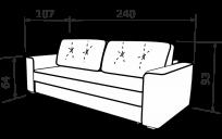 Прямой диван ФЕНИКС