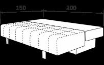 Прямой диван МАКС