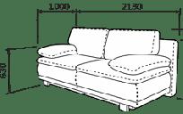Прямий диван МАЛЬТА