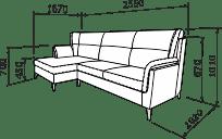Кутовий диван АНТОНІО