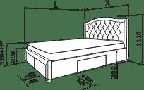 Ліжко ФЛОРІДА