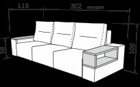 Прямий диван ЛОРД