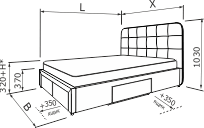 Ліжко МОНТАНА