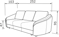 Прямий диван ПАРМА