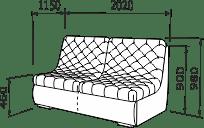 Прямий диван РЕЛАКС