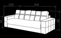 Прямий диван СЕУЛ