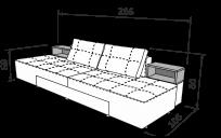 Прямий диван СІТІ