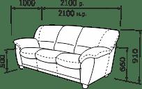 Прямий диван ТУРИН