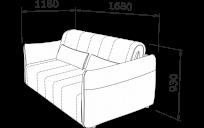 Прямий диван ТУТТІ-АККОРДЕОН
