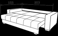 Прямий диван ТОМАС