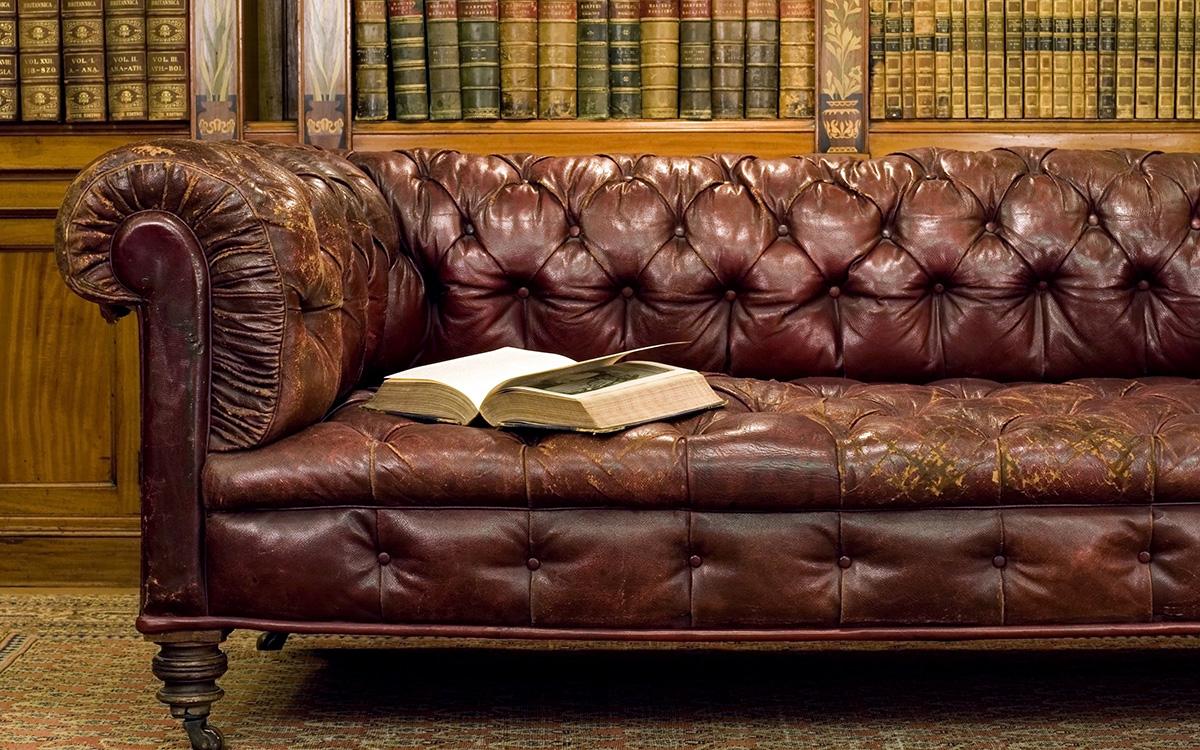 Реставрация кожаный диван