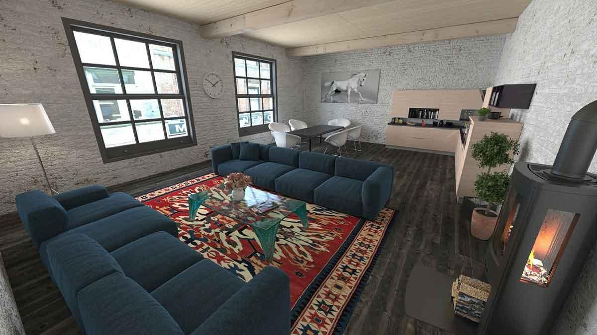 как расположить диван в комнате - фото6