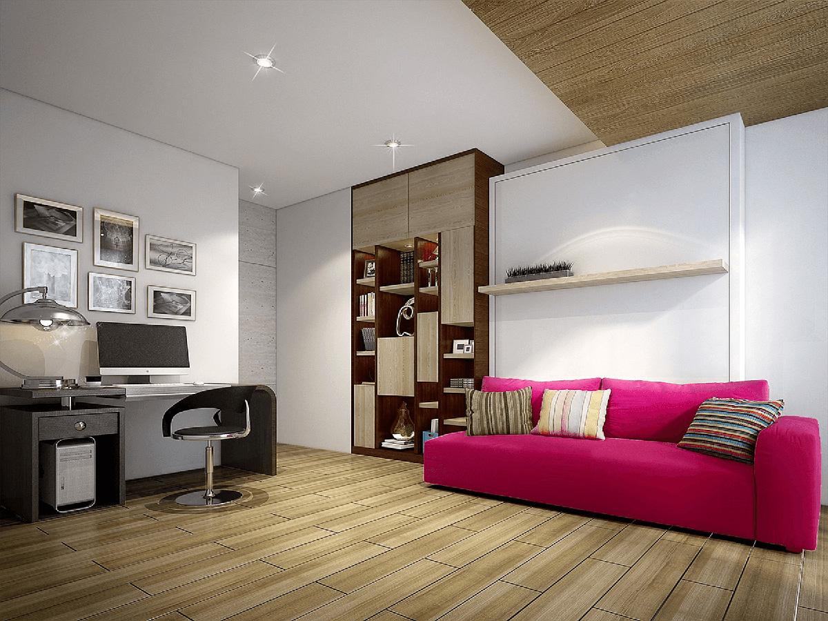 как расположить диван в комнате - фото5
