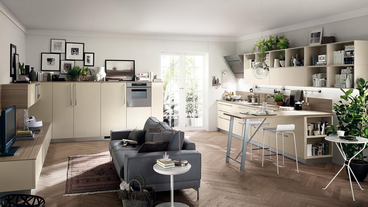 Как разместить диван на кухне - фото4