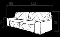 Прямой диван BERGAMO