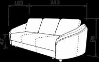 Прямой диван ПАРМА