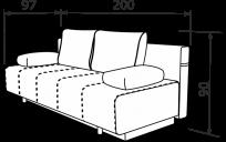 Прямой диван TWIX