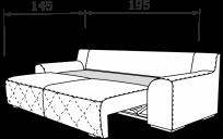 Прямой диван БЕРГАМО