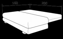 Прямой диван БЕСТ