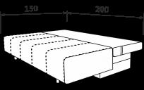 Прямой диван ТВИКС